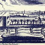Dresdner Stollenmesser auf Abbildung des Zeithainer Lustlagers