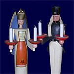Engel und Bergmann - typische Weihnachtsfiguren aus dem Erzgebirge