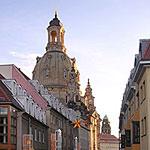 Die Frauenkirche Dresden - Blick von der Münzgasse