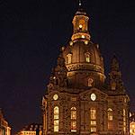 Die Frauenkirche Dresden - Aussenaufnahme am Abend