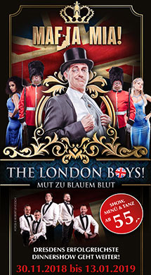 Mafia Mia - The London Boys - Dinnershow
