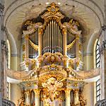 Die Frauenkirche Dresden - Innenansicht mit Orgel