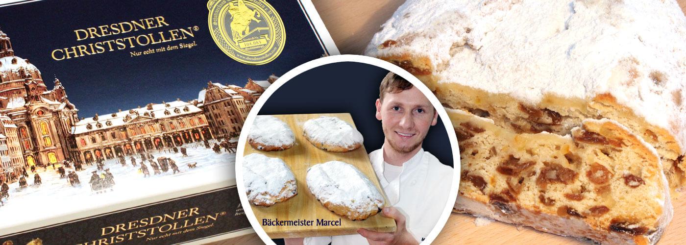 Dresdner Christstollen®, Marzipanstollen und Mandelstollen
