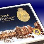 Geschenkkarton Dresdner Stollen mit Stollensiegel und Siegel g.g.A.